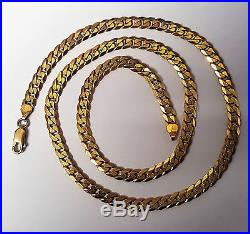 Lovely gents ladies solid 9ct gold curb chain necklace 20 inch long 21.3 gram