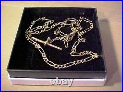 MAGNIFICENT LONG SOLID 9ct GOLD NECK CHAIN WITH T BAR & LOBSTER CLAW 9.7 Grams