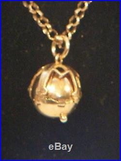 Masonic Eastern Star Gold And Silver Ball And 9ct Gold Chain