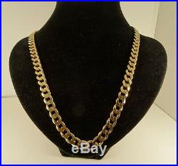 Men Ladies Heavy 23.5 9ct Gold CURB Chain Necklace Gift 72gr 8mm 791n RRP£3600
