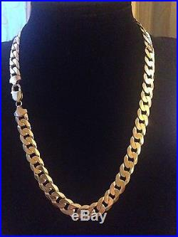 Men's 9CT Gold Curb Chain. 22 Inch. 98 Grams