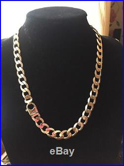 Men's 9CT Gold Heavy Curb Chain. 22 Inch. 100 Grams
