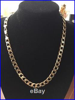 Men's 9CT Gold Heavy Curb Chain. 23 Inch. 100 Grams