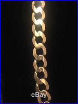 Men's 9CT Gold Heavy Curb Chain. 25 Inch. 94 Grams