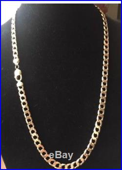Men's 9CT Gold Heavy Curb Chain. 70 Grams. 25 1/2 Inch