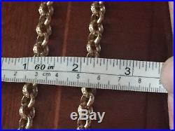 Men's 9CT Gold Heavy Solid Belcher Chain. 32 Inch. 109 Grams