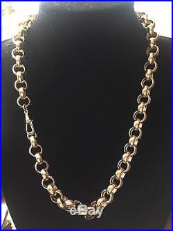 Men's 9CT Gold Large Heavy Belcher Chain. 134 Grams. 24 Inch
