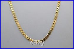 Men's 9ct Gold Curb Chain 21