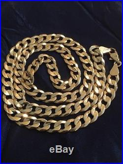 Men's 9ct Gold Curb Chain 26.9g Hallmarked Good Used Condition! Great Weight