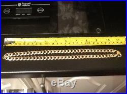 Men's 9ct gold curb chain 46 grams 1.62 ozs 22 inch