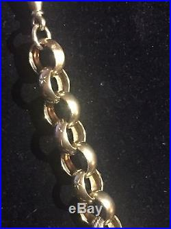 Men's Beautiful Heavy 9CT Gold Belcher Chain. 25 Inch, 117 Grams