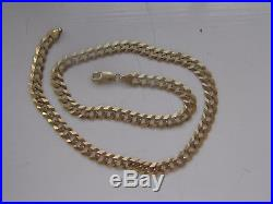 Men's Gold 9ct Heavy Curb Link Chain Necklace 31.36g 20.5
