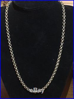 Men's Heavy 9CT Gold Belcher Chain. 26 Inch. 95 Grams