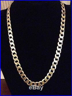 Men's Heavy 9CT Gold Curb Chain, 103 Grams, 24 Inches