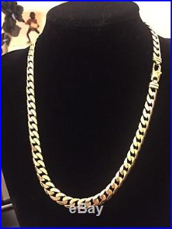 Men's Heavy 9CT Gold Curb Chain. 108 Grams. 22 Inch