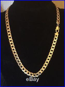 Men's Heavy 9CT Gold Curb Chain. 22 Inch. 72.5 Grams