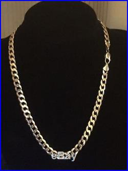 Men's Heavy 9CT Gold Curb Chain. 55 Grams. 20 Inches