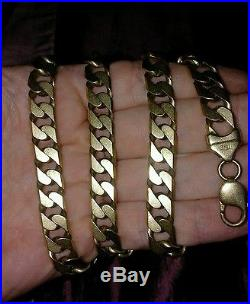 Men's heavy 9ct gold curb chain 115 grams