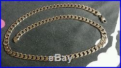 Men's solid 9ct gold curb chain 115 grams
