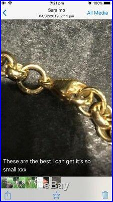 Mens 9 ct Gold Belcher Necklace 39.22 Grams 18 inch