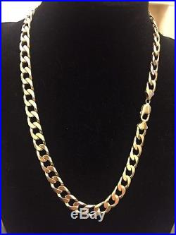 Mens 9CT Gold Heavy Curb Chain. 102.6 Grams. 23 Inch