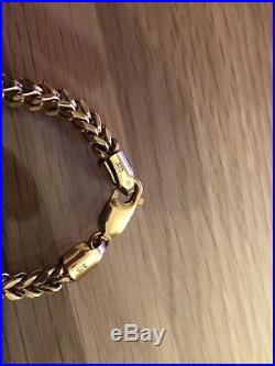 Mens 9ct Gold Chain Franco / Foxtail Design 26.4mm. 24.6grams