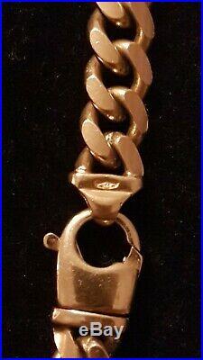 Mens 9ct Gold Curb Chain. 102 Grams
