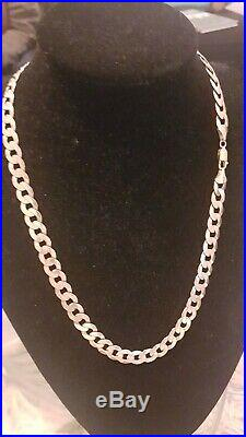 Mens 9ct Gold Curb Chain. 60 Grams. 24 Inch