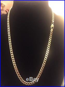 Mens 9ct Gold Curb Chain. 67.8 Grams. 23 Inch