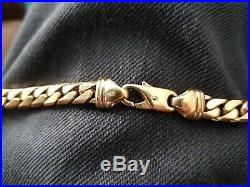 Mens 9ct Gold Curb Chain 76 Grammes Weight