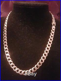 Mens 9ct Gold Curb Chain. 85 Grams. 21 Inch