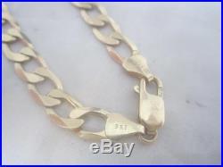Mens 9ct Gold Curb Chain Bracelet 9.1 Grams 8'' Length Lot L