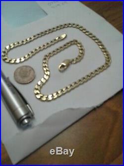 Mens 9ct Gold Diamond Cut Curb Chain