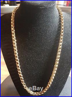 Mens 9ct Gold Heavy Chain. 111 Grams. 28 Inch