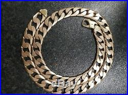 Mens 9ct Gold Heavy Curb Chain 24 Inch