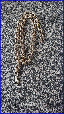 Mens 9ct gold belcher chain