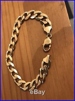 Mens 9ct gold bracelet. Not scrap. See pics. 33.6 grams