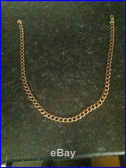Mens 9ct gold chain used 62 grams