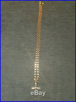 Mens 9ct gold cross and chain