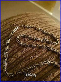 Mens 9ct heavy Byzantine gold chain