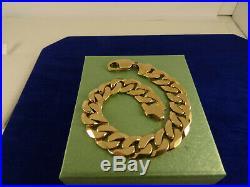 Mens Boys Ladies HEAVY 9ct Gold CURB Bracelet 8 35g Hm 12mm RRP £2100 47c