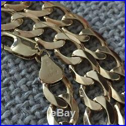 Mens Chunky 20 Inch 9ct Gold Chain Necklace