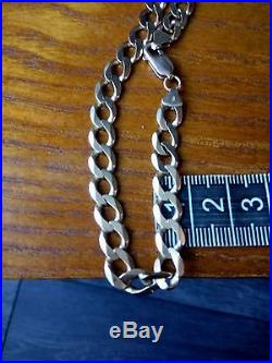 Mens Heavy 9ct Gold Solid Curb Chain 23 28.78grams Fully Hallmarked