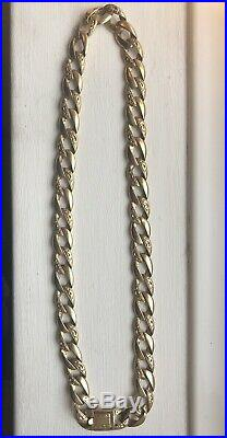 Mens Heavy gold Chain necklace 146g 9ct