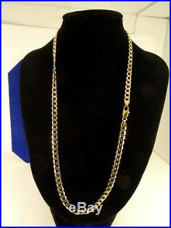 Mens Ladies 18 Solid 9ct Gold CURB Chain Necklace 13gr 5mm HmItaly ch4