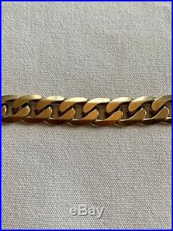 Mens Solid 9ct 24 Gold Chunky Heavy Curb Chain 100 Grams Stunning Gold Necklace