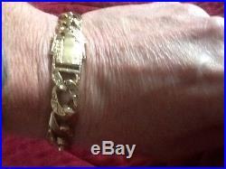 Mens Solid 9ct Gold Bracelet