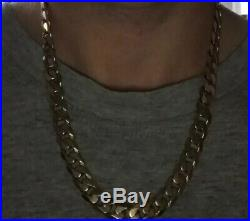 Mens heavy 9ct yellow gold curb chain