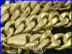 N019 Genuine 9ct SOLID Yellow GOLD Curblink Chain-THICK-HEAVY-CHUNKY 21