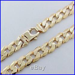 NEW 9ct Gold Heavy Bevelled Curb Chain 30 161.7 G RRP£6475 C178 30